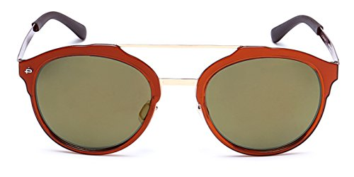 "PRIVE REVAUX ""The Producer"" Handcrafted Designer Polarized Round Sunglasses (Brown)"