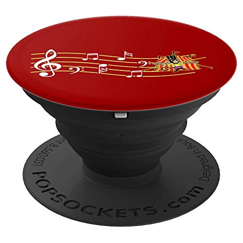Circus Monkey Musical Note - PopSockets Grip and Stand for Phones and Tablets