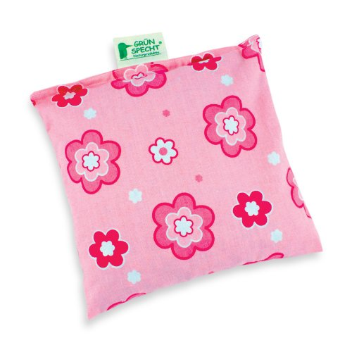 Grünspecht 100-V3 Kirschkern-Kissen 19 x 19 cm, pink