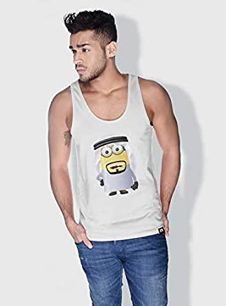 Creo Saudi Arabia Minions Tank Top For Men - White, S