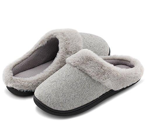 HomeIdeas Women's Woolen Fabric Memory Foam Anti-Slip