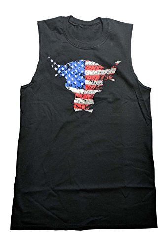 The Rock Team Bring It USA Sleeveless Muscle T-Shirt Black by Hybrid Tees