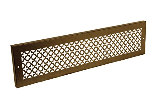 SteelCrest Bronze Series Victorian Rectangular Baseboard Grille - Oil Rubbed Bronze (30
