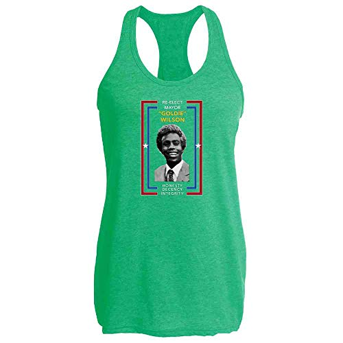 Re-Elect Mayor Goldie Wilson Campaign Heather Kelly XL Womens Tank -