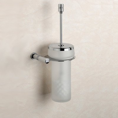 (Cylinder Frosted Glass Wall MountedToilet Brush and Holder Finish: Chrome)