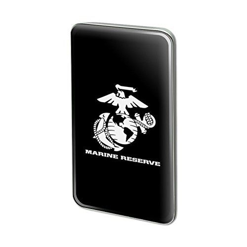 Marine Reserve White Black Logo Rectangle Lapel Pin Tie - White Black Rectangle Logo And