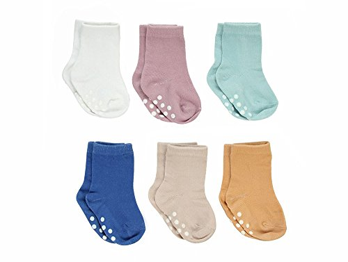 (Silky Toes Non-Skid Infant Socks Multi Colored Baby Boy Girl Gift Set (6-12M, Spring Collection Boys (6 Pairs)))