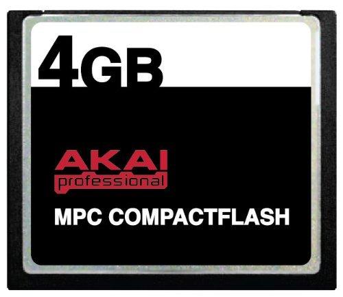 Warranty Compactflash Card - 4GB Akai MPC CompactFlash CF Memory Card for MPC500, MPC1000, MPC2500 and MPC5000