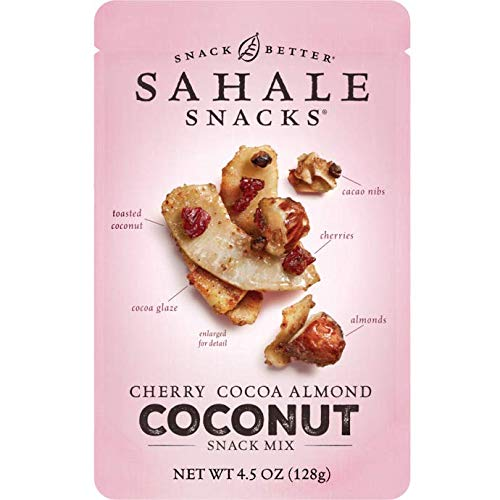 Sahale Snacks, Nut Snacks in a Resealable Pouch Variety of 3 Flavors ( Maple Pecans, Cherry Cocoa Coconut, Honey Almonds Glazed ) Pack of 6 by Sahale Snack (Image #3)