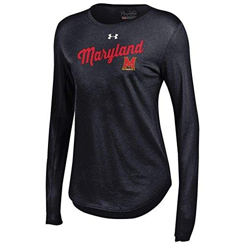 Under Armour Women's Long Sleeve University of Maryland Terps Baseball Tee (XX-Large) (Armour Under Maryland Baseball)