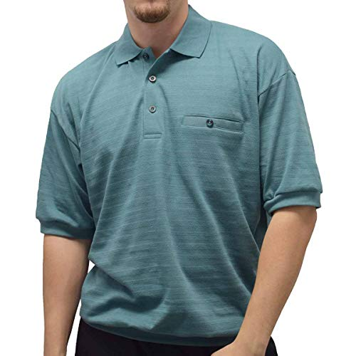 Classics by Palmland Allover Short Sleeve Banded Bottom Shirt - 6070-227 Sage (XL, Sage)