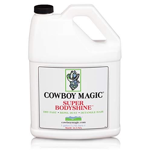 COWBOY MAGIC Super Bodyshine FAST DRY REPEL DUST DETANGLE HAIR Refill Gallon