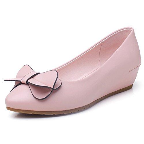 Dulce otoño puntiagudos zapatos ligeros/ aumentar arco zapatos de las mujeres/Zapatos de cuñas/Mujer tacones B