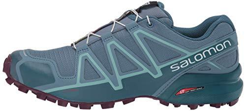 Salomon Women's Speedcross 4 W Trail Running Shoe, Bluestone/Mallard Blue/Dark Purple, 5.5 Standard US Width US by Salomon (Image #5)