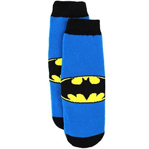 Batman Boys slipper-socks (4-6 Toddler (Shoe: 7-10), Batman Blue)