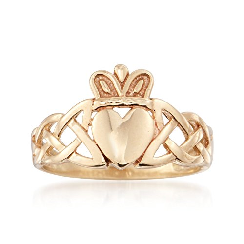 Ross-Simons 14kt Yellow Gold Braided Claddagh ()