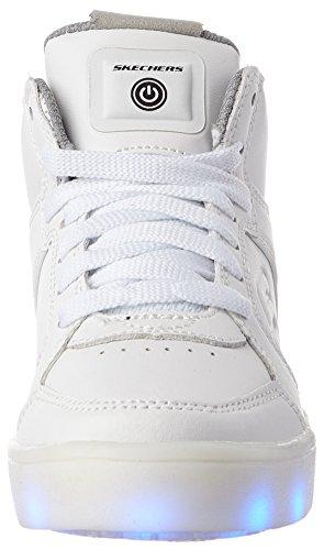 Sneaker M White Boys US Kid 3 Little Energy Lights Skechers Kids UZBAIwq