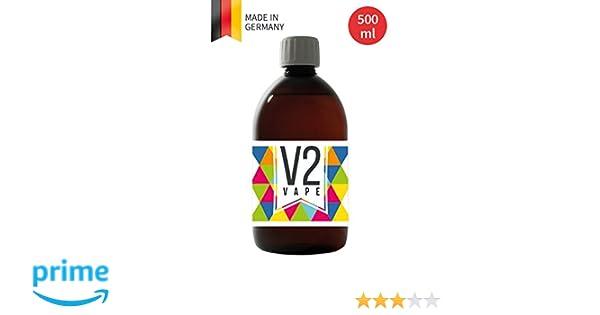 V2 Vape E-Liquid Base Base 500ml grado farmacéutico puro para auto-mezclado de e-líquidos 0mg libre de nicotina: Amazon.es: Salud y cuidado personal