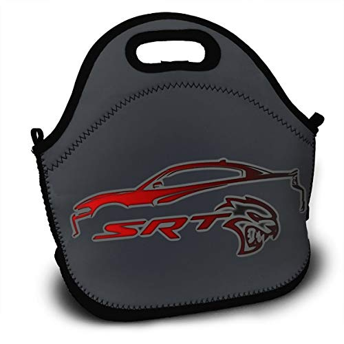 KLA2000 SRT Hellcat Charger Lunch Bag Lunch Tote Bag Travel School Picnic Lunch Box for Mens & Womens & Kids