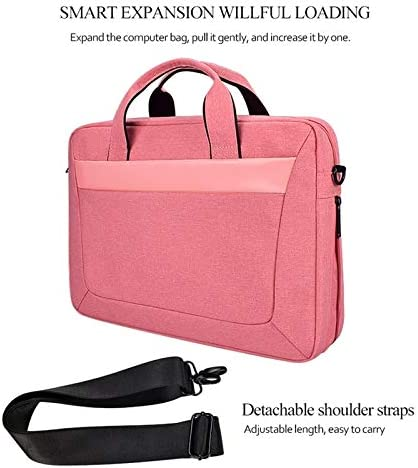 Color : Pink KANEED DJ06 Oxford Cloth Waterproof Wear-Resistant Portable Expandable Laptop Bag for 13.3 inch Laptops Laptop Handbag Black with Detachable Shoulder Strap