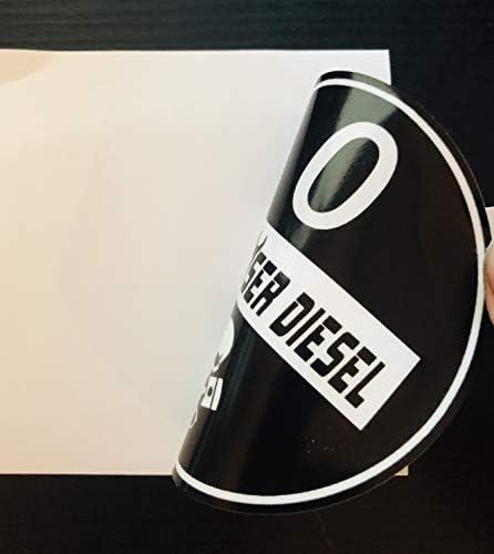 Feinstaubplakette Schwarz Umweltplakette Aufkleber Sticker Folie 9 Verschiedene Beschriftungen Ganz Böser Diesel Innenklebend Auto