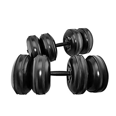 no logo MHB-Fitness 25kg Water-Filled Adjustable Dumbbells Training Arm Muscle Fitness Dumbbell Anti-Impact Portable Travel Dumbbells,Strong and Sturdy: Home & Kitchen
