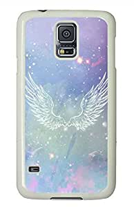 Angel Wings PC White Hard Case Cover Skin For Samsung Galaxy S5 I9600