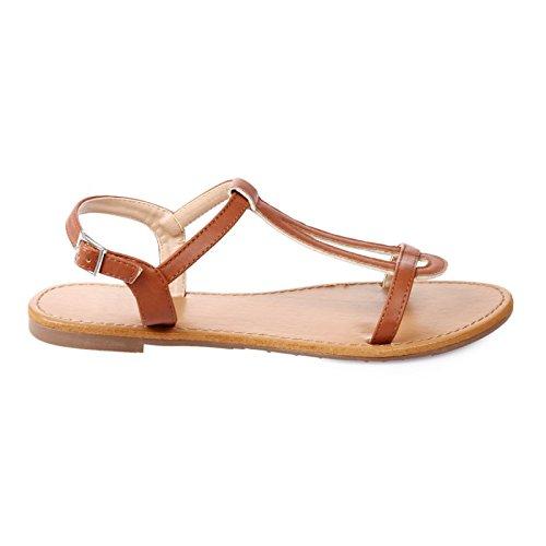 La Modeuse - Sandalias de vestir para mujer, marrón (marrón claro), 41 EU
