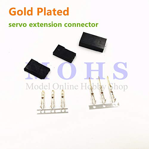 Kamas RC Model servo Battery Golden Plated Plug Gold Plated servo Extension Cable Connector servo Connector for FUTABA JR - (Color: FUTABA 10sets)