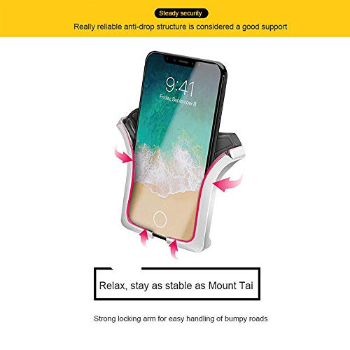 Car Phone Mount,Gravity Cell Phone Holder for car Air Vent Car Phone Holder Universal Car Cradle Mount Compatible iPhone Xs MAX/X/8/7, Galaxy Note 9/S9 Plus/S8/S7 by Licupiee (Image #3)