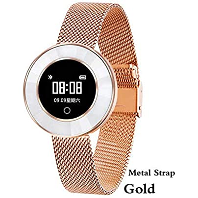 ZCPWJS smart wristband Smart Watch Women camera Heart Rate Monitoring IP68 Waterproof Blood Pressure Lady Smartwatch Fitness Tracker Metal Gold Estimated Price £74.12 -