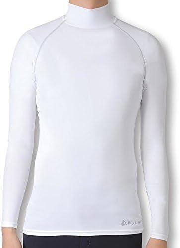EQULIBERTA UVカット 吸湿速乾スポーツインナー メンズ ホワイト