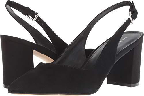 4 Inch Slingback Pump Shoes - Marc Fisher LTD Women's Catling 2 Black Suede 8 M US