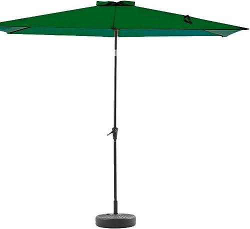 wikiwiki Rectangular Patio Umbrella Outdoor Market Table Umbrella