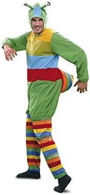 Disfraz de Gusano multicolor para hombre talla M-L: Amazon.es ...