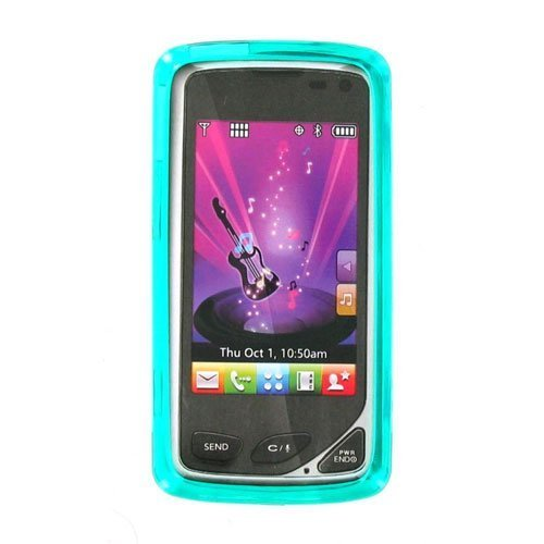 Verizon LGCHOCTSILHGTQ OEM LG Chocolate Touch VX8575 High Gloss Silicone Case - Turquoise (Chocolate Touch Phone Cases compare prices)