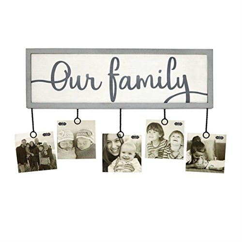Mud Pie OUR FAMILY PHOTO HOLDER ()