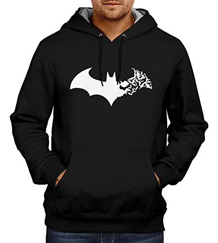 Avaatar Black Superhero Sweatshirt for Men (Batman, Small) -