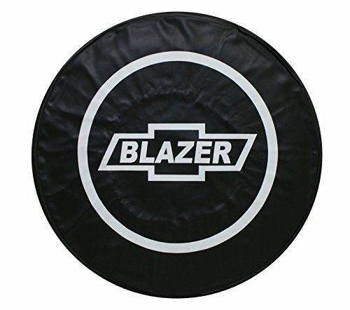 SPARE TIRE COVER CHEVY BLAZER BLACK HEAVY DUTY VINYL TIRE COVER