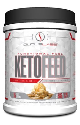 Purus Labs Ketofeed Low Glycemic Meal Replacement, Salted Ca