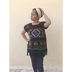 Blusa huipil ~ Blusa cosocot mexicana bordada/blusa huipil bordada cosocot