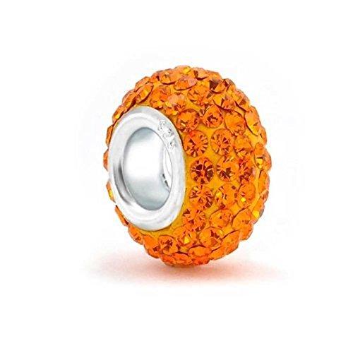 The Kiss Orange 925 Sterling Silver Bead Fits European Charm Bracelet