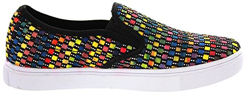 Fashion Mev Multi Black Verona Womens Bernie Sneakers taxAvA