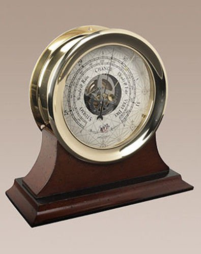 Brass Ships Captain'S Weather Barometer Wall Mantle Desk Authentic Models