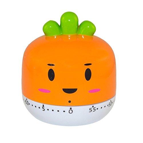 Cute Onion Kitchen Timer Mini Timer 60 Mins Countdown- Orang