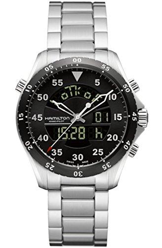 Hamilton Khaki Aviation Flight Timer Quartz Men's Quartz Watch H64554131