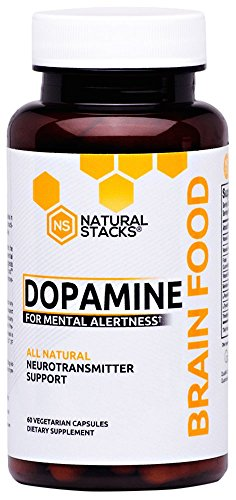 Natural Stacks Dopamine Brain Food Supplement (60 Vegetarian Capsules) - Neurotransmitter Support, Improve Brain Health, Increase Mental Performance, Reduce Brain Fog