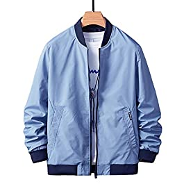Men's Slim Fit Jackets Bomber  Fall Autumn Coats Outwear