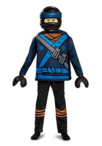 Disguise Cole Lego Ninjago Movie Classic Costume, Yellow/Black, Large (10-12) -