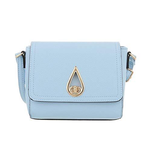 Ital para hombro Sintético Design mujer Azul Bolso de al Claro wZwCTH